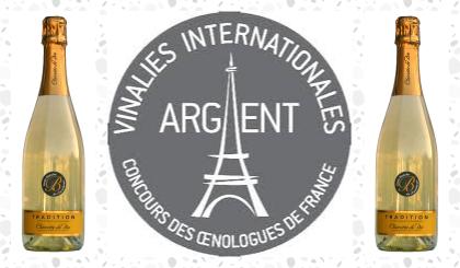 Médaille d'argent au concours des Œnologue de France